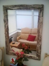 Driftwood mirror lovely mirror at this price 47*34 inches driftwood collected on gowerbeaches