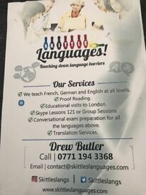 German French and English as a Foreign Language tuition.