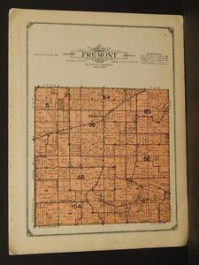Minnesota Winoa County Map Fremont Township 1914 W4#98