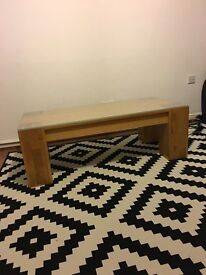 Solid Oak Coffe Table Glass Top