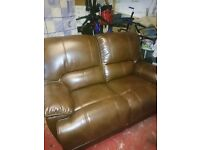 Real leather two seater recliner
