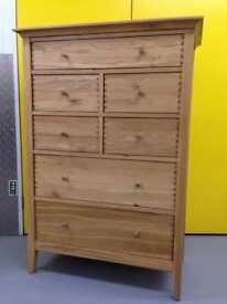 John Lewis essence tall oak chest of drawers dresser sideboard Laura Ashley habitat loaf oka Lombok