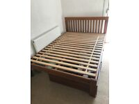 Muji Oak Double bed with storage drawers