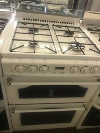 60CM WHITE GAS COOKER