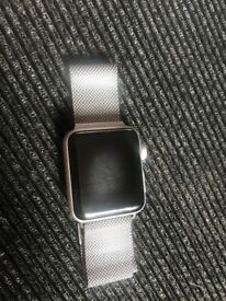 Apple iwatch with original strap and additional steel one