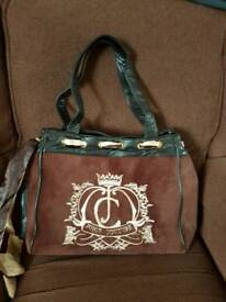 Juicy couture bag in brown with pink lining