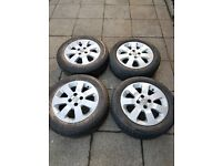 Set of 4 Corsa C Alloys with tyres