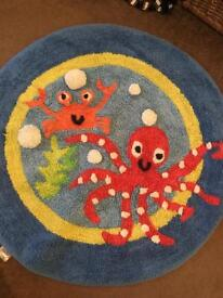 Toddler bedding and rug