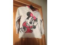 Next girls Minnie Mouse hoodie age 3-4