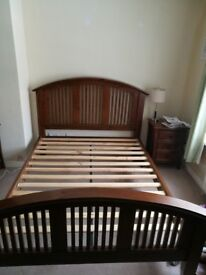 Mahogany bed and bedroom furniture