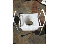 Framed toilet seat