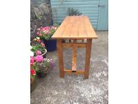 Solid Pine Folding Display / Patio Table