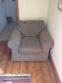 Large Grey/Green Ektorp Style Armchair