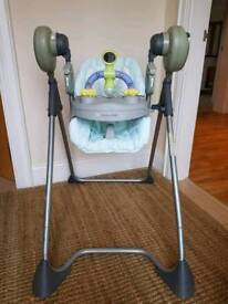 High chair/play swing