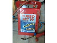 Oxyturbo Turbo 90 Kit, compact lead welding kit excellent condition,