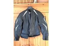 Leather motorcycle/ scooter jacket size small, hein gericke