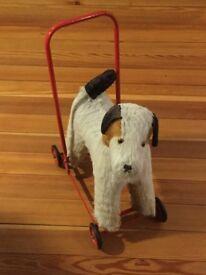 Toy Dog on wheels