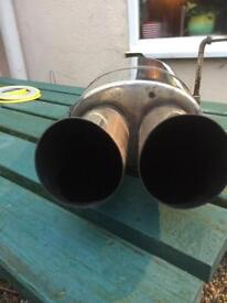 Silencer twin bore