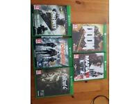 5 xbox one games Call of Duty Doom Mafia III fallout the division