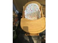 Solid wood feeding chair from Mothercare