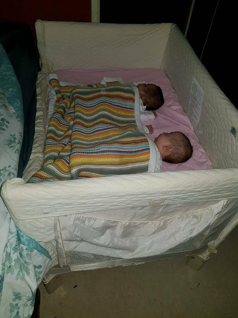Arms Reach Twin Co Sleeper Bedside Cot Crib In