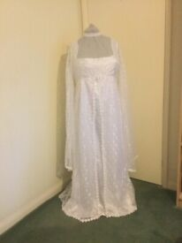 Vintage,Gothic,Wedding Dress ,hand made white satin,(never worn)