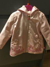 Girls billie blush rain jacket pink age 2