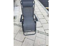 Outsunny Garden Deck Folding Reclining Chair Sun Lounger Zero Gravity Patio