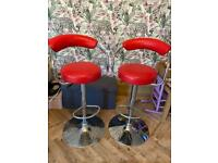 2 bar stools , not great condition. But would do a turn free local delivery