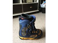 Boots and bindings. Nearly new. Size 3