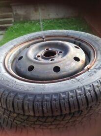 2 x 155/65/13 wheels and tyres