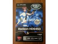 Brand New Sealed AMD HD6450 512MB DDR3 PCI-E Graphics Card