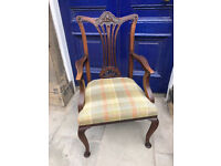Re-upholstered Bedroom Chair - Good Condition