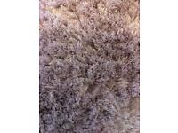 Large Lilac Light Purple Shimmer Rug Thick Pile / 100 x150 cm