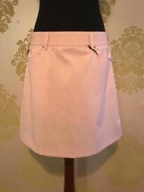 Ladies Golf Skort, Abacus Golf, Size 12, Pink Check, Brand New