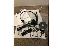Brand new Plantronics blackwire c610-M corded single earpiece headset.