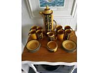Crown Devon aztec coffee set 19 piece