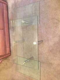 Glass & Chrome Extending Coffee Table - Great Condition - Only £40