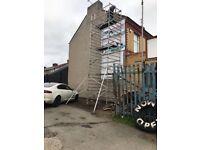 Massive 8.2m alloy scaffold tower