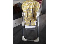 Joie Mimzy high chair. Excellent condition,only used for grandchild when visiting. Position heights