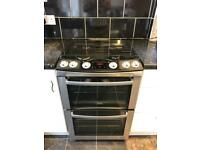 Zanussi ZCG664GNC GAS Double Oven cooker In Black