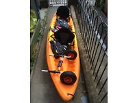 Sit on top kayak, two person Ocean, with accessories