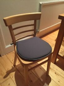 Grey seat cushions/pads x 6.