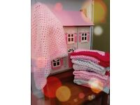 Cuddly crocheted baby blankets