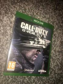 Call of duty ghosts , Xbox one