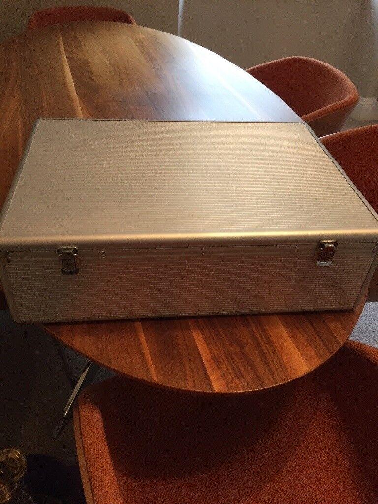 CD/DVD aluminium storage case.