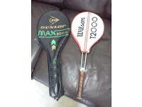 McEnroe v Connors tennis racquets