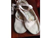 Sansha pink canvas ballet shoes, size 4-4.5