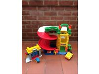 Fisher Price little people garage and car wash.