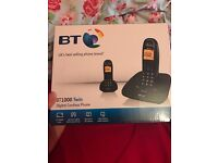 BT 1000 cordless twin phone(pack of two)